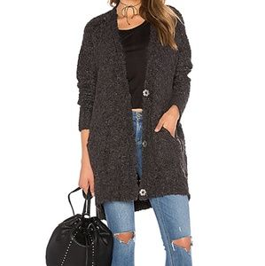 Free People Boucle Slouch Cardigan